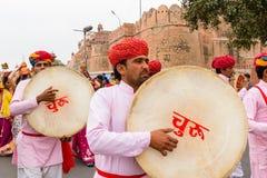Барабанщики Rajasthani Стоковое фото RF