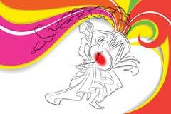 Барабанщик в Durga Puja иллюстрация вектора