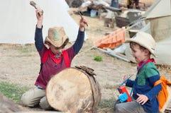 Барабанщик ковбоя Стоковое Фото