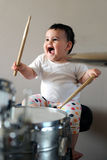 Барабанщик младенца Стоковое Фото