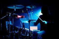 Барабанщик на двуколке стоковое изображение rf