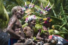 Барабанщик Папуа новый гвинеец Стоковая Фотография