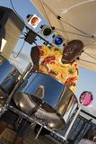 барабанщик сжимая сталь Стоковые Фотографии RF