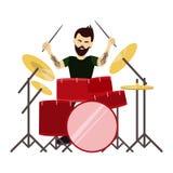 Барабанщик человека иллюстрация вектора