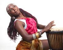 барабанщик djembe стоковые фотографии rf