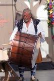 Барабанщик Faire ренессанса стоковое фото rf
