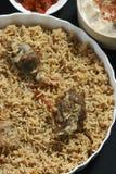 Баранина Gosht Biryani - подготовка риса с бараниной и специями Стоковые Изображения