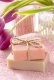 2 бара естественного handmade мыла Стоковое Изображение