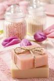 2 бара естественного handmade мыла Стоковое фото RF
