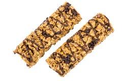 2 бара granola с хлопьями и шоколадом Стоковые Фото