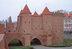 Барбакан Варшавы, полукруглый укрепленный аванпост стоковая фотография