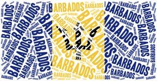 Барбадосские островы flag соотечественник Иллюстрация облака слова Стоковая Фотография RF