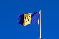 Барбадос: Национальный флаг Стоковое Изображение