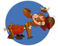 барбекю варя viking иллюстрация вектора