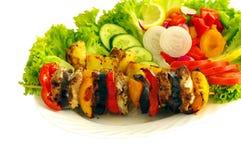 Барбекю и овощ Стоковое Изображение