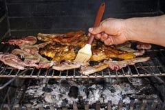 Барбекю мяса Стоковые Изображения