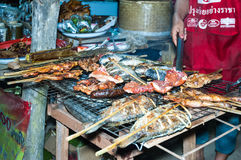 Барбекю Lao, Hongsa, Лаос Стоковое Фото