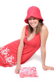 барвинок платья цвета милый предназначенный для подростков Стоковое Изображение RF