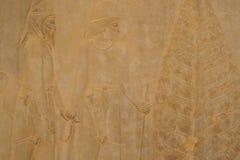 Барельеф на стене, Иран Стоковые Изображения RF