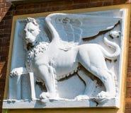 Барельеф венецианского льва Стоковые Изображения RF