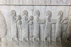 Барельеф в Persepolis, Иране Стоковое Фото