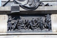 Барельеф на памятнике к адмиралу Nakhimov Стоковые Изображения