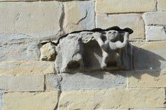 Барельеф на старой стене Стоковая Фотография RF