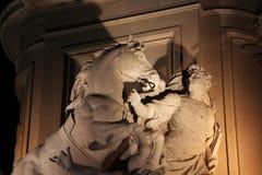 Барельеф на статуе короля José Я, квадрата коммерции, Лиссабона, Португалии Стоковые Изображения