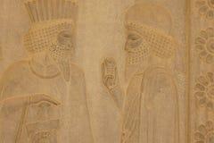 Барельеф на стене, Иран Стоковое Изображение