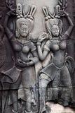 Барельеф на Angkor Wat, Камбодже Стоковая Фотография