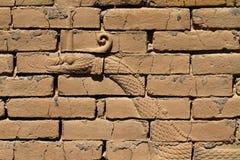 Барельеф дракона, строб Ishtar, Вавилон Стоковое фото RF