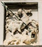 Барельеф с изображением St. George Стоковое Изображение RF
