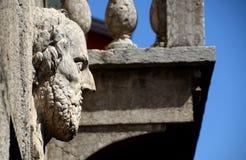 Барельеф шалфея на старой стене Стоковая Фотография