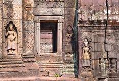 Барельеф aspara в Angkor Wat Стоковая Фотография