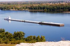 баржа Миссиссипи стоковая фотография