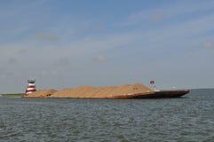 Баржа на водном пути Стоковые Фотографии RF