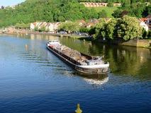Баржа на Реке Neckar Стоковое фото RF