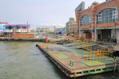Баржа пристани парома острова cijin Стоковая Фотография RF