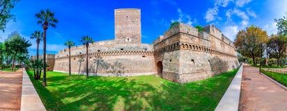 Бари, Италия, Апулия: Swabian замок или Castello Svevo, также вызвали Castello Normanno, Apulia стоковое изображение