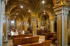 Бари, Италия - 5 05 2018: Интерьер церков dei Veneziane Сан Marko в старом городке Бари, Италии Стоковое Изображение