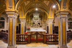 Бари, Италия - 5 05 2018: Интерьер церков dei Veneziane Сан Marko в старом городке Бари, Италии Стоковые Фото