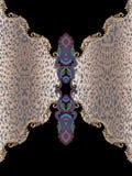 Барокк вышивки животной черноты печати геометрическое стоковая фотография