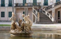Барочная лестница и статуя Стоковые Изображения