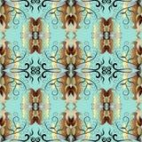 барочная картина безшовная Предпосылка винтажного вектора флористическая антропологического иллюстрация штока