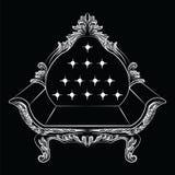 Барочная роскошная мебель кресла стиля Стоковые Фото