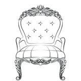 Барочная роскошная мебель кресла стиля Стоковые Изображения RF