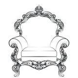 Барочная роскошная мебель кресла стиля Стоковое фото RF