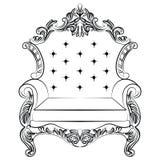 Барочная роскошная мебель кресла стиля Стоковая Фотография RF