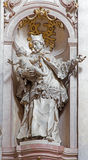 Барочная скульптура St. John Nepomuk в ступице монастыря Premonstratesian Johann Anton Krauss (1728 до 1795) в Jasov. Стоковая Фотография