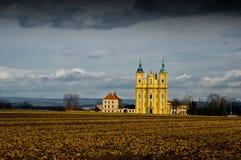 Барочная церковь паломничества девой марии. Стоковое Изображение RF